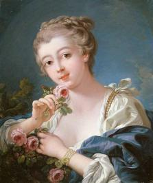 Boucher_Young_Woman_Holding_a_Rose_L